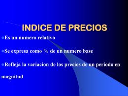 El Indice Nacional de Precios Productor