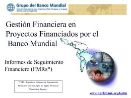 Informes de Seguimiento Financiero de Proyectos