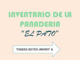 """INVENTARIO DE LA PANADERIA """"EL PATO"""""""