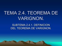 TEMA 2.4. TEOREMA DE VARIGNON.