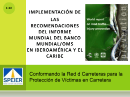 Implementing the Recommendations of the World …