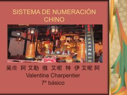 SISTEMA DE NUMERACION CHINO - Portal RMM
