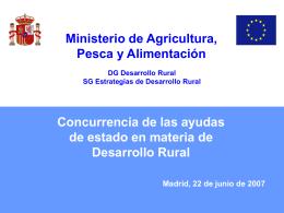 Desarrollo Rural y Ayudas de Estado