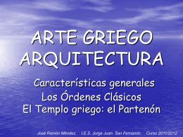 Arte griego. Arquitectura