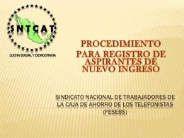 SINDICATO NACIONAL DE TRABAJADORES DE LA CAJA …