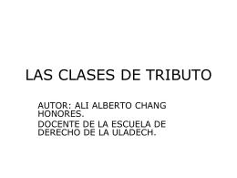 LAS CLASES DE TRIBUTO