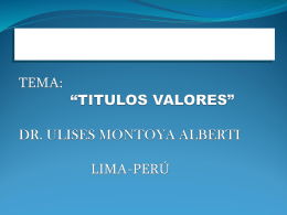 """CURSO DE DERECHO COMERCIAL TEMA: """"TITULOS …"""
