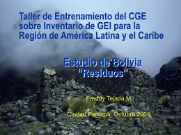 Estudio de Bolivia 'Residuos'