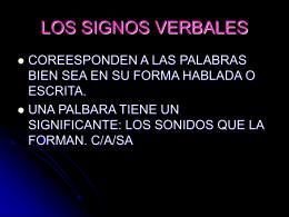 LOS SIGNOS VERBALES