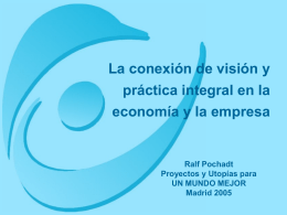Economia y Empresa, Ralph Pochadt