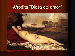 """Afrodita """"Diosa del amor"""