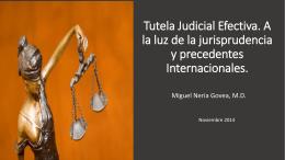Tutela Judicial Efectiva. A la luz de la jurisprudencia y