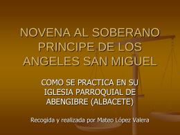 NOVENA AL SOBERANO PRINCIPE DE LOS ANGELES SAN …
