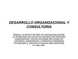 DESARROLLO ORGANIZACIONAL Y CONSULTORIA