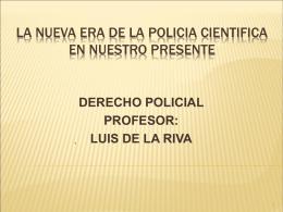 Doctrina policial y Ciencias policiales