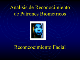 Reconocimiento de patrones Biometricos