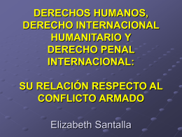DERECHOS HUMANOS, DERECHO INTERNACIONAL …