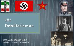 Los Totalitarismos - Liceo Marta Donoso Espejo