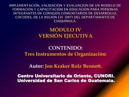 CONSEJOS COMUNITARIOS DE DESARROLLO, COCODES.