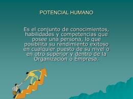 POTENCIAL HUMANO - E