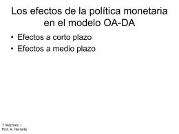 El modelo OA-DA