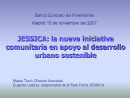 JESSICA: la nueva iniciativa comunitaria en apoyo al