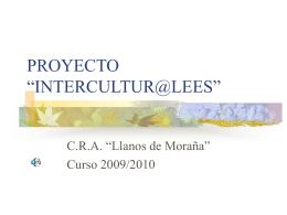 """PROYECTO """"INTERCULTUR@LEES"""""""