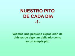 AG1- NUESTRO PITO DE CADA DIA -1-
