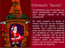 Estimado 'Santa': - PresentacionesWeb