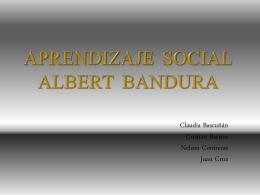 APRENDIZAJE SOCIAL Albert Bandura