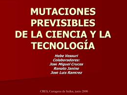 EL FUTURO NOS ALCANZA: MUTACIONES PREVISIBLES DE …