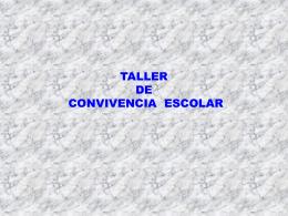 TALLER CONVIVENCIA ESCOLAR - Portal RMM