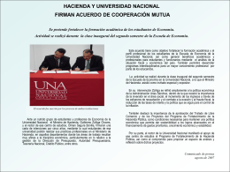 HACIENDA Y UNIVERSIDAD NACIONAL FIRMAN …