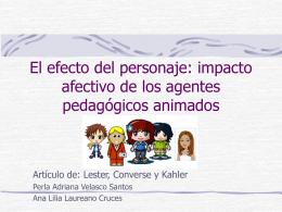 El efecto del personaje: impacto afectivo de los agentes