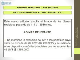 RENTA PRESUNTIVA ART. 188 E.T.