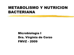 METABOLISMO Y NUTRICION BACTERIANA
