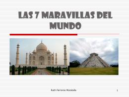LAS 7 MARAVILLAS DEL MUNDO - MURAL