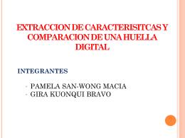 EXTRACCION DE CARACTERISITCAS Y COMPARACION DE …