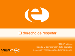 El derecho de respetar