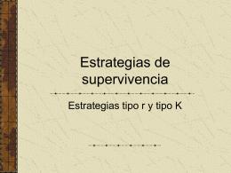 Estrategias de supervivencia - UPCH