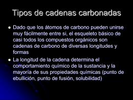 Tipos de cadenas carbonadas - OB Ciencias Experimentales