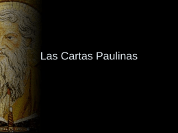 Las Cartas Paulinas - Test Page for Apache Installation