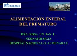 ALIMENTACION DEL PREMATURO