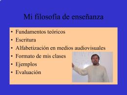 Filosofia de la ensenanza y metodologia