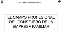 EL CAMPO PROFESIONAL DEL CONSEJERO DE LA …