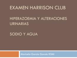 Examen harrison club hiperazoemia y alteraciones urinarias