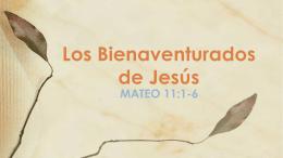 MATEO 11:1-6 - Familia Semilla