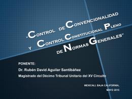 EL CONTROL DE CONSTITUCIONALIDAD PLENO DE …