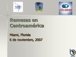 Remesas en Centroamerica