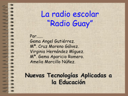 "La radio escolar ""Radio Guay"""